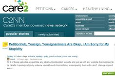 And the Apologies: http://www.care2.com/news/member/861862799/3825602