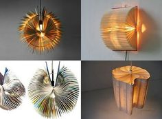 Upcycle paper lamps