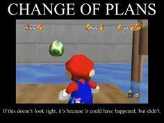 Super Mario 64 in beta...