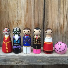 Hey, I found this really awesome Etsy listing at https://www.etsy.com/listing/264553707/book-of-life-toy-wood-peg-dolls-set-of-6