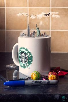Creative Photo Manipulations Of Miniature Cities In Cups (Project Curator: Karen McDermott Photography/Image Editing: Jason McGroarty) Abstract Photography, Image Photography, Creative Photography, Inspiring Photography, Photography Editing, Photography Tutorials, Beauty Photography, Digital Photography, Editorial Photography