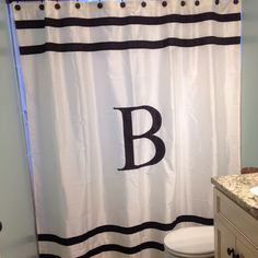 Vertical Striped Shower Curtain Beige Shower Curtain