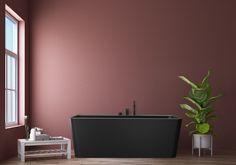 Saga badekar i svart matt kompositt Saga, Flat Screen, Blood Plasma, Flatscreen, Dish Display