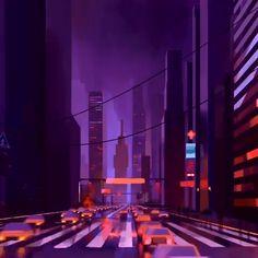 vaporwave videos City crowd new york san francisco city life traffic art video artwork synthwave and retrowave Cyberpunk Aesthetic, Cyberpunk City, Neon Aesthetic, Aesthetic Movies, Night Aesthetic, Aesthetic Backgrounds, Aesthetic Wallpapers, Building Aesthetic, Pixel Art Background