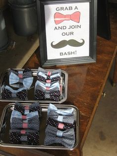 Ok the mustache thing is so overdone BUT how cute would a bowtie party be for a little boy? - in-the-corner