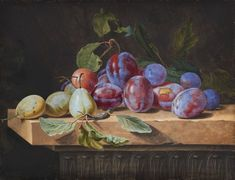 STILL LIFE WITH PLUMS AND PEARS - Kunsthaus Lempertz