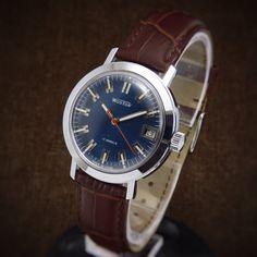 Wostok Very Rare Unique Soviet Deep Dial Watch Mint From 70s - waterproof deep…