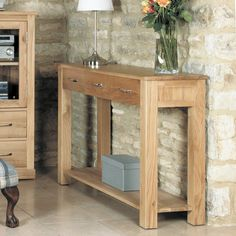 Mobel Solid Oak Console Table -  - TV Cabinet - Baumhaus - Space & Shape - 2