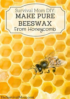 Make Pure Beeswax From Honeycomb