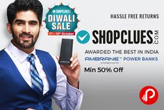 Shopclues #DiwaliDhamakaDeals is offering Minimum 50% off on #Ambrane #PowerBanks.   http://www.paisebachaoindia.com/ambrane-power-banks-minimum-50-off-shopclues/