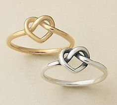 Subtle by design, the sterling silver Delicate Heart Knot Ring is a timeless expression of enduring love. Heart Knot, Avery Jewelry, James Avery, Knots, Charms, Delicate, Wedding Rings, Engagement Rings, Sterling Silver