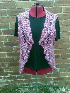 Crochet vest...the back is beautiful! FREE pattern that is adjustable for all sizes from small to the largest plus size.