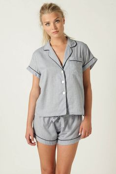 Usually just throw on an old shirt and old P.E shorts, but I like these. Very cute :)