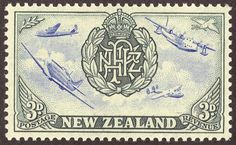 New Zealand Stamp. This is from 1945, the Peace set. This is the RNZAF stamp.