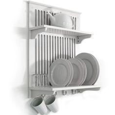 da parete bianco cucina scolapiatti / Dryer con viti a gancio - Bianco wd1873 | Casa, arredamento e bricolage, Cucina: stoviglie e accessori, Organizzazione della cucina | eBay!