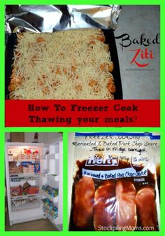 How To Freezer Cook Series ~ Thawing your Meals