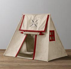 Boy Room, Kids Room, Indoor Tents, Luxury Nursery, Restoration Hardware Baby, Teepee Tent, Teepees, Kids Tents, Canvas Tent