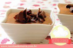 Receitas de Marcas Famosas: Mousse de Chocolate
