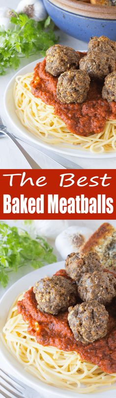 Personalized Graduation Gifts - Ideas To Pick Low Cost Graduation Offers These Are The Best Baked Meatballs Out There A Crispy Crust And A Juicy And Flavorful Center. These Meatballs Are Sure To Quickly Become A Family Favorite Meat Recipes, Pasta Recipes, Dinner Recipes, Cooking Recipes, Healthy Recipes, Meatball Recipes, Yummy Recipes, Free Recipes, Dinner Ideas