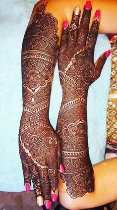 Top 35 Bridal Mehndi designs for full hands and legs For Women 2019 – My Stylish Zoo