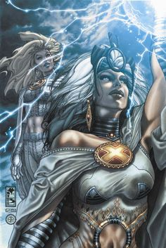 Emma Frost and Storm by Simone Bianchi (Cover Art for Astonishing X-Men Comic Book Characters, Marvel Characters, Comic Character, Comic Books Art, Comic Art, Marvel Heroines, Female Characters, Storm Xmen, Storm Marvel