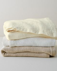 Fine European linen is woven in Maine by Brahms Mount on antique looms to create this blanket with a rustic look and texture that's also incredibly soft. Sophisticated simplicity year-round.