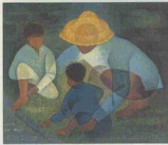 enfants dans la rue (les ) by Louis TOFFOLI: Lithographie Originale ~Repinned Vis Nicole BENOIST