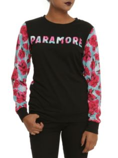 Paramore Floral Girls Pullover Top