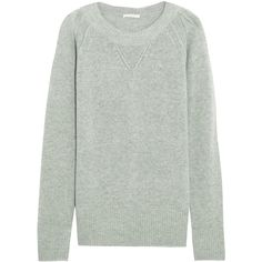 Chloé Cashmere sweater ($1,150) ❤ liked on Polyvore featuring tops, sweaters, grey, boyfriend sweater, gray top, woven top, gray cashmere sweater and ribbed top
