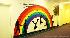Children's Area Decor: Children Playing Wall Silhouette Vinyl Decals for kids School Entrance, School Hallways, School Murals, Kids Church Decor, Kids Church Rooms, School Wall Decoration, School Decorations, Sunday School Rooms, Murals For Kids