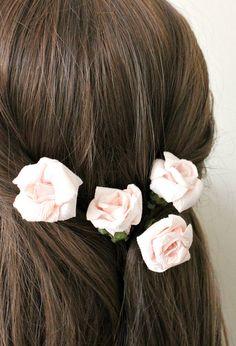 Blush Flower Hair Pins Floral Hair Clip
