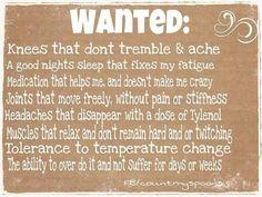 Fibromyalgia truth....this is my life