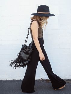 High Wasted Black Pants | LUXCLOTHING