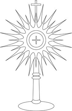 monstrance coloring page - Google Search