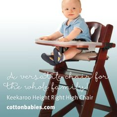 Created To Grow With Baby, The Keekaroo Right Height High Chair Not Only  Makes The