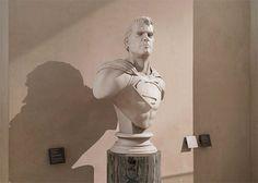superheroes exhibition in Louvre // photo by Leo Caillard // #superhero #louvre #digitalphotography #manipulation #leocaillard #sculpture #phantasy