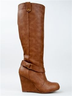 Delicious FEAST Knee High Wedge Boot | Shop Shoes