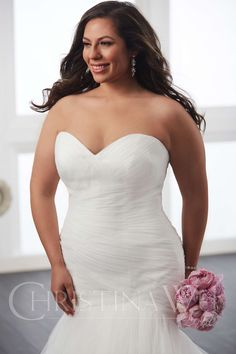 The Suffolk Wedding Dress Exchange is a Bridal Barn in Framlingham, Suffolk selling sample and once worn designer weddding dresses at discounted prices. Tropical Dress, Plus Size Wedding, Plus Size Womens Clothing, Designer Wedding Dresses, Jacket Dress, Plus Size Dresses, Chiffon, Bride, Christina Wu
