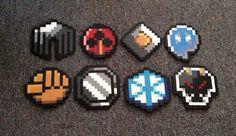 Pokemon Johto Region Badges Full set of Magnets