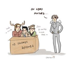 No Naomis allowed. Supernatural fan art