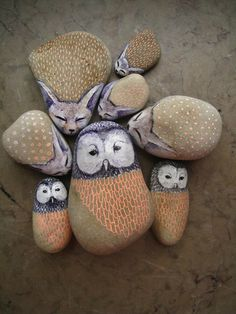 owl-painted-stones3_large.jpg 500×667 pixeles