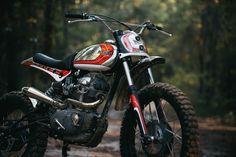 Fuller Moto's Super Duc Ducati 250 Scrambler Is a Mirrored Menace Moto Ducati, Ducati Scrambler, Moto Bike, Motorcycle Types, Cafe Racer Motorcycle, Dirt Bikes, Road Bikes, Dual Sport, Street Bikes