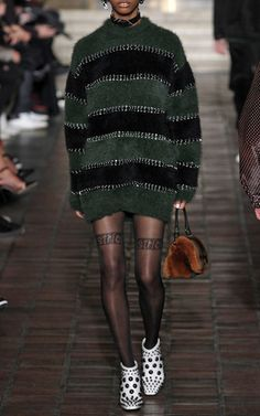 This **Alexander Wang** long sleeve rugby dress features a striped hardware design and a relaxed fit.