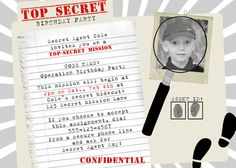 Cute Spy Party invitations