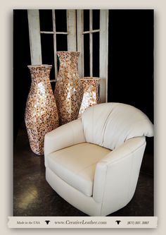 For three decades, Creative Leather has been committed to handcrafting the finest quality custom leather furniture in the Southwest. Leather Furniture, Custom Furniture, Old Adage, Custom Leather, Chair And Ottoman, Glove, Turning, Conversation, Love Seat
