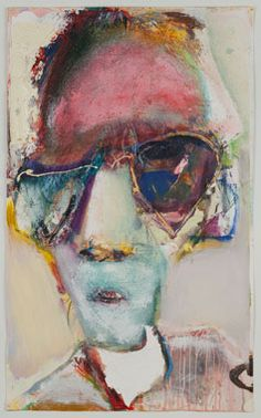 Richard Hickam Ted 2012 mixed media on paper 28 x 17 in.