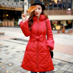 dabuwawa 2016 winter middle long warm thick bow wadded jacket-in Parkas from Women's Clothing & Accessories on Aliexpress.com | Alibaba Group
