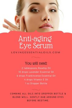 DIY Anti-aging Eye Serum Essential Oil Recipe | Lavender Oil | Rosehip Oil | Frankincense Oil | Homemade Beauty Product | Dropper Bottle Recipe