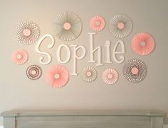 Items similar to Pink, Grey and Polka Dot Set of 10 (Ten) paper fans/rosettes, decorations for Girl Baby Shower,Birthday Party or Wedding on Etsy Grey Baby Shower, Girl Shower, Paper Rosettes, Paper Flowers, Pink Bedroom Decor, Polka Dot Party, Gris Rose, Paper Fans, Baby Girl Birthday