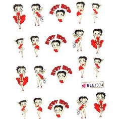 betty boop nail stickers
